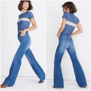 Madewell High Rise Wide Leg Flare Jeans